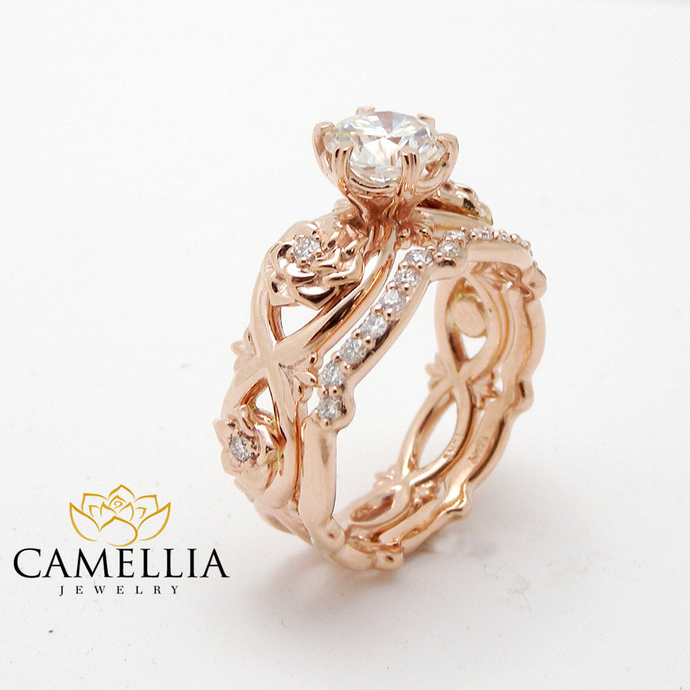 unique diamond promise rings rose gold ring set real diamond engagement rings wedding gift - Real Diamond Wedding Rings