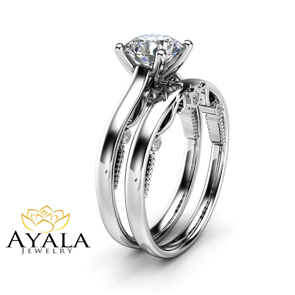 rings style diamond ring noura set tilt gold side white with classic engagement bead accent