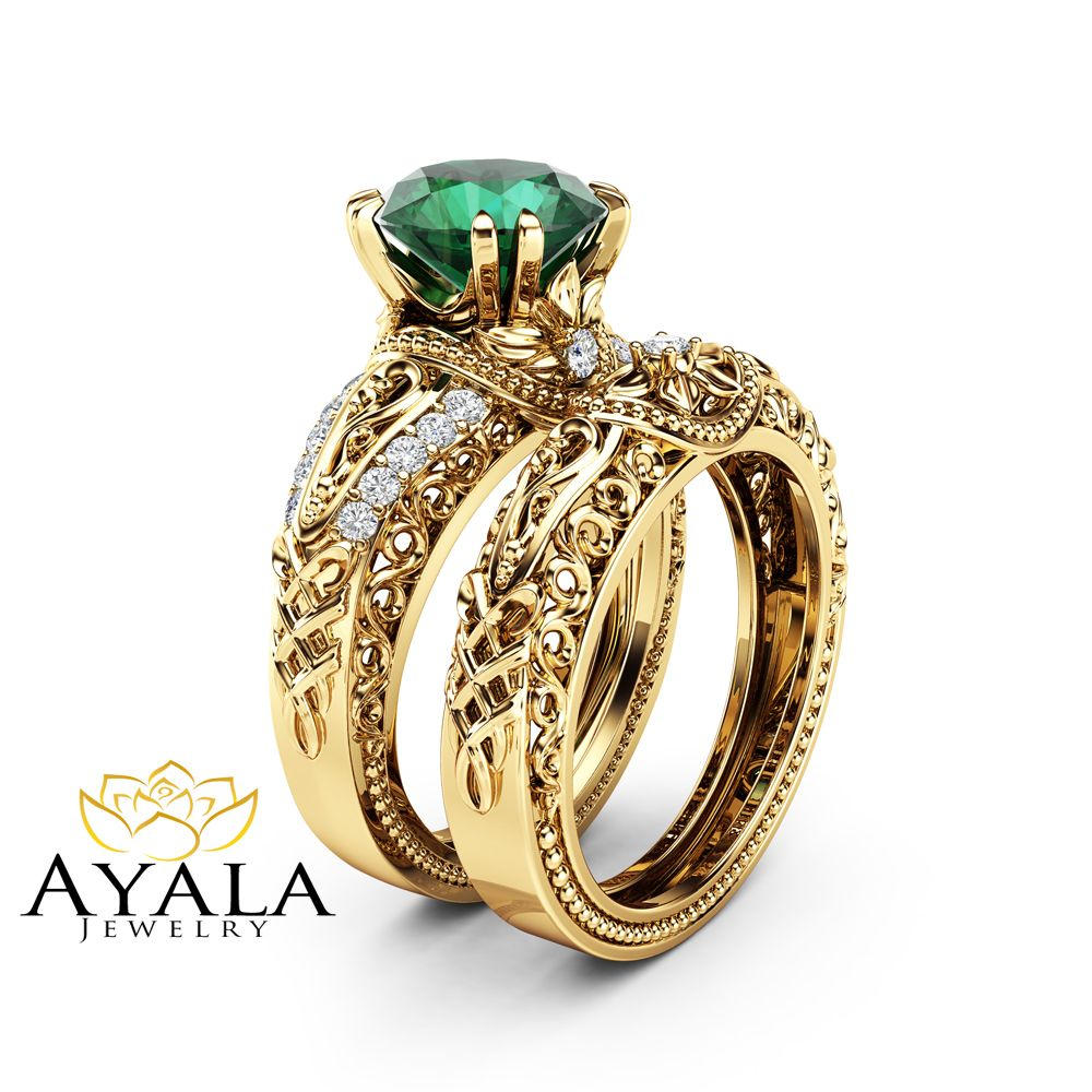 ring il emerald wedding listing qomx diamond rings