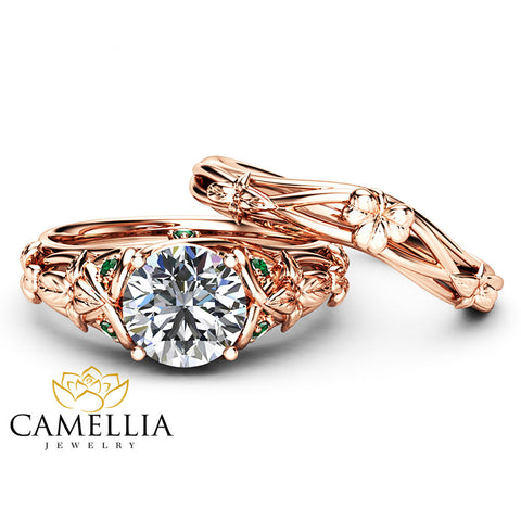 Nature Inspired Engagement Rings Camellia Jewelry