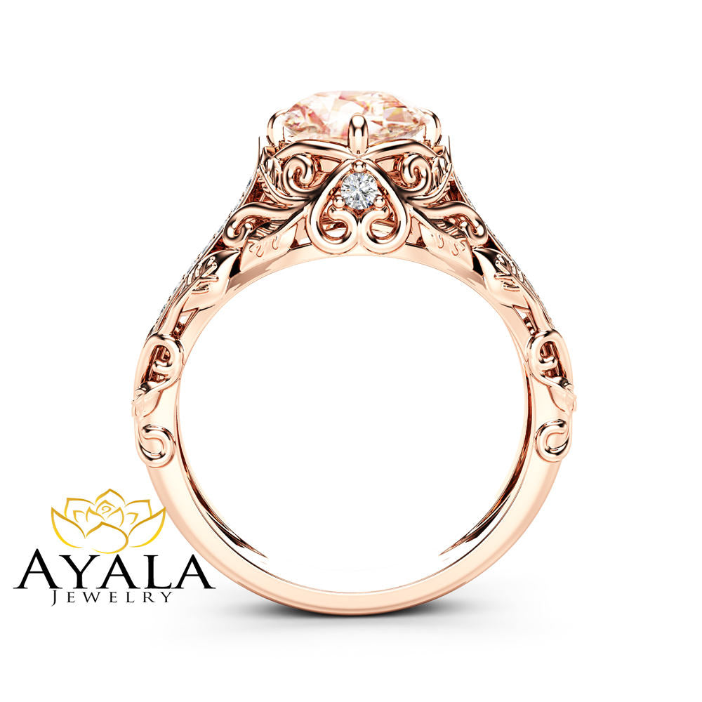 customer plan engagement rose special rings payment oval for morganite size gold a ring