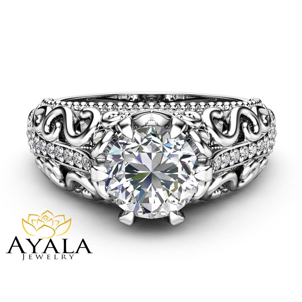 a ring one forever set on cut moissanite berlin engagement wedding diamond setting products rings cushion