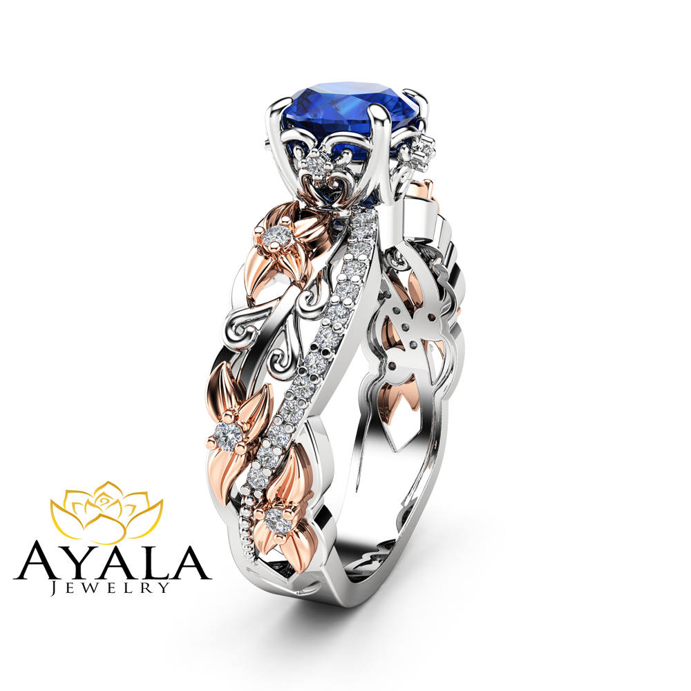 womens bands custom rings diamond sapphire blue wedding and band
