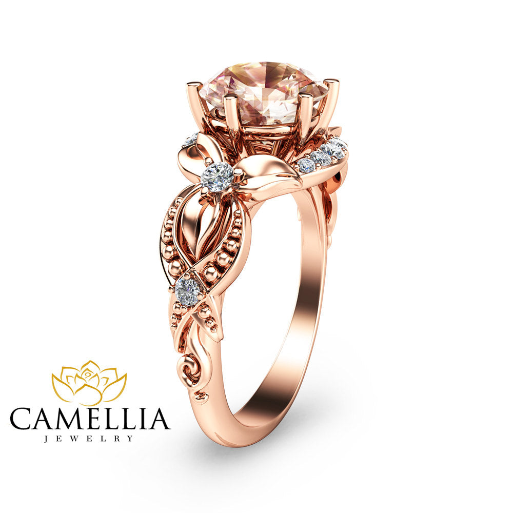 ring rosa rings gold rose products product del amor princess cut engagement
