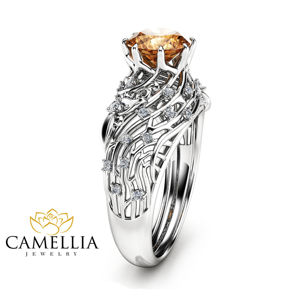jewelry extravagant ring rose in diamondland rings brown gold diamond