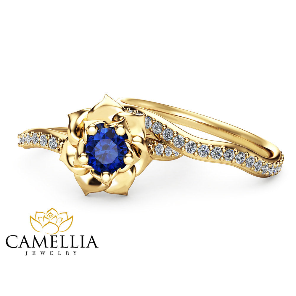 white princess blue set sapphire wedding shop vidar cut ring in gold