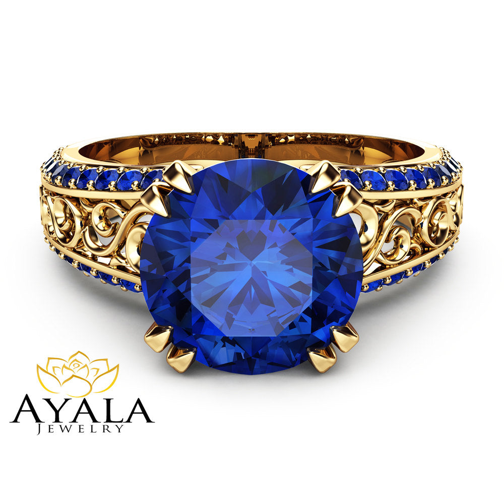 sapphire blue bijoux ring product gold rose rad venice rings