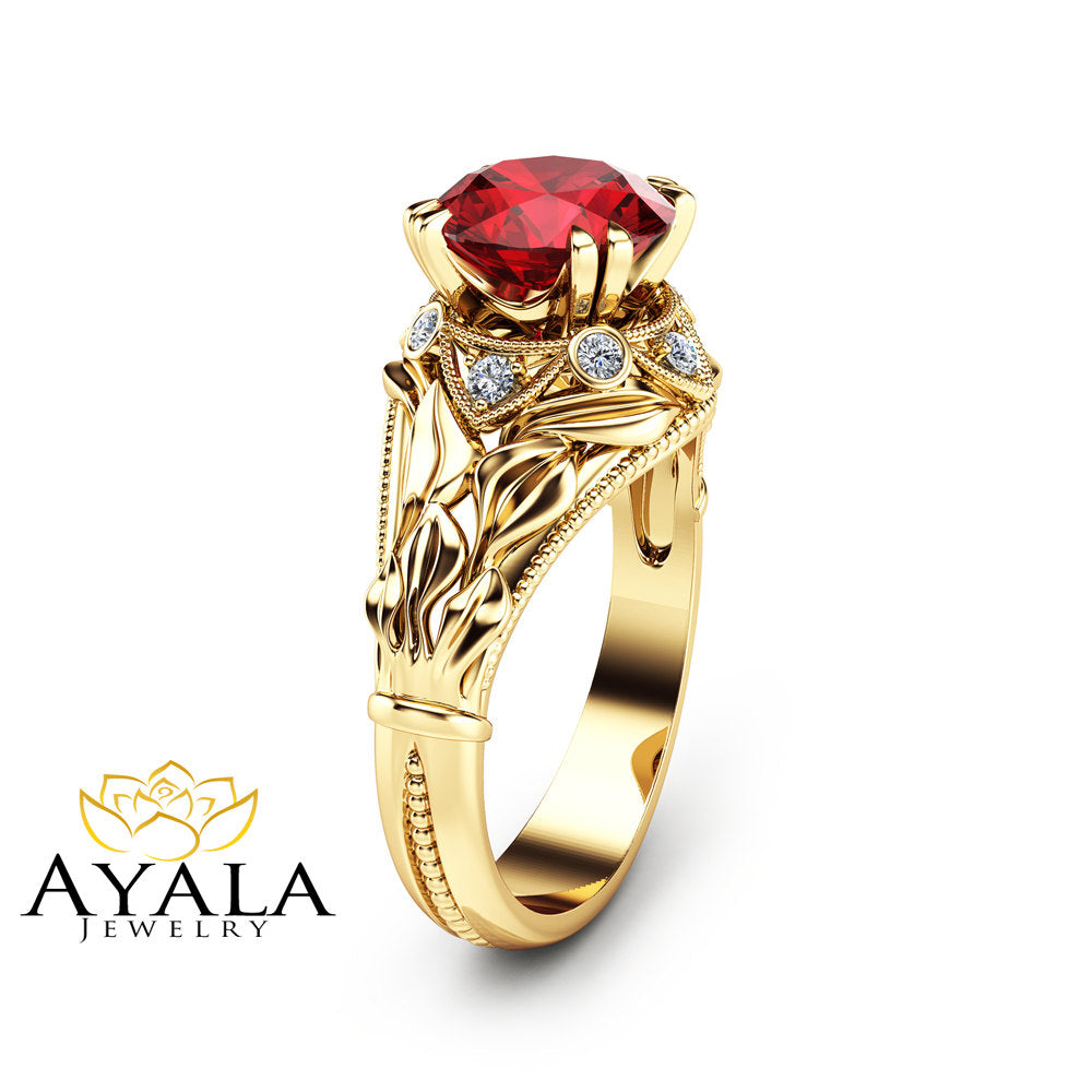 ruby gold collection jewellery ring jewelry italian white diamond non branded