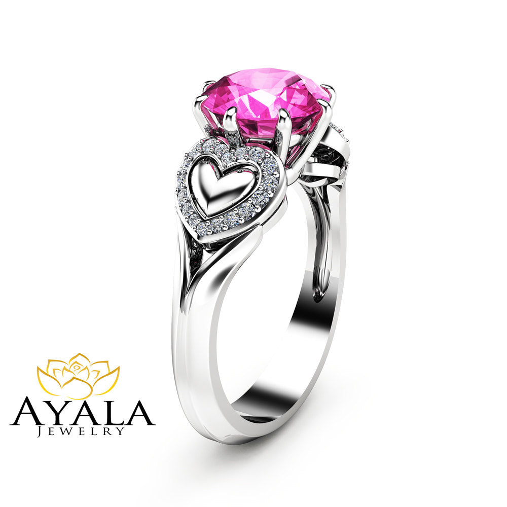 pav pink products wedding ring jewelry rose persona heart rings pave world