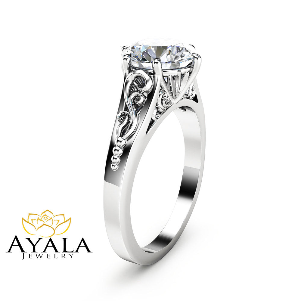 brilliant platinum round ring cut jewellery in solitaire diamond