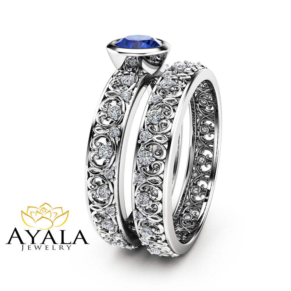 wedding engagement finish and mens rings band diamond details blue gold about pave white mm itm ring