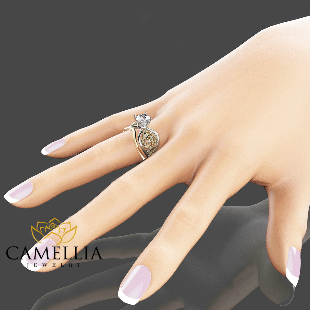 ring band cut two baguettes wedding weddings rings view with princess gallery bands new of full attachment engagement