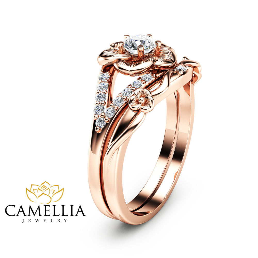 ring set wedding fullxfull il products gold carat rose unique natural vintage engagement diamond an rings