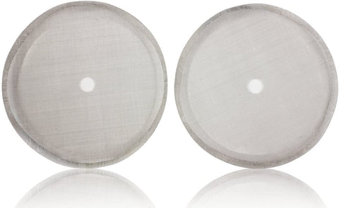 Image of KONA French Press Filter 34 oz (2 Pack) Original 8-Cup Stainless Steel Reusable Replacement Mesh Screen