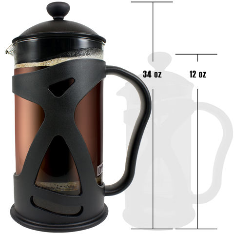 KONA French Press, 34oz BLACK