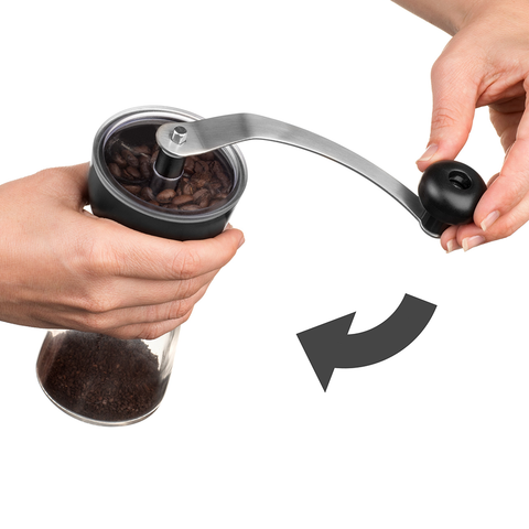 KONA Coffee Glass Manual Grinder, Conical Burr