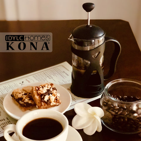 Image of KONA French Press Small Single Serve Coffee and Tea Maker, Black 12 oz