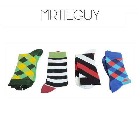 4 PACK MIXED SOCKS