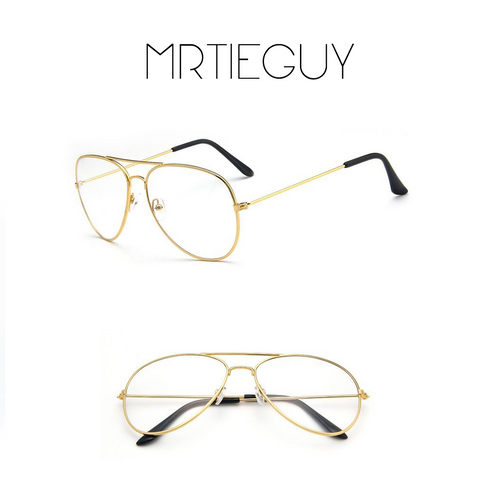 UNISEX VINTAGE GOLD AVIATOR GLASSES - MR TIE GUY - For The Daring & Dapper™