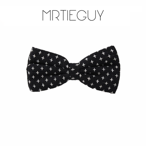 BLACK PREPPY BOW TIE