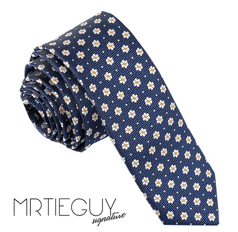BLUE DAISY TIE - MR TIE GUY - For The Daring & Dapper™