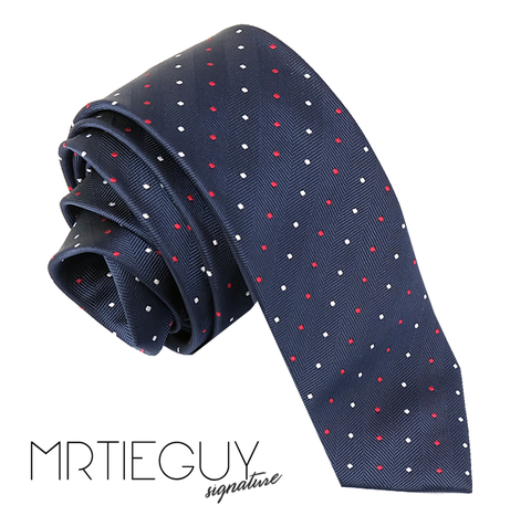 RED WHITE PIN DOT TIE - MR TIE GUY - For The Daring & Dapper™