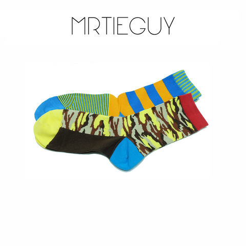 CAMO COLOURFUL SOCKS - MR TIE GUY - For The Daring & Dapper™