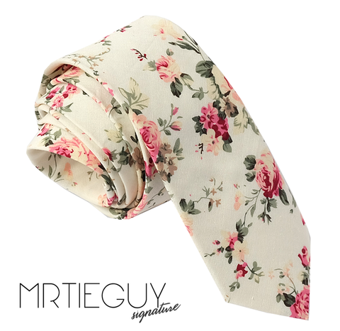 CREAM FLORAL - MR TIE GUY - For The Daring & Dapper™