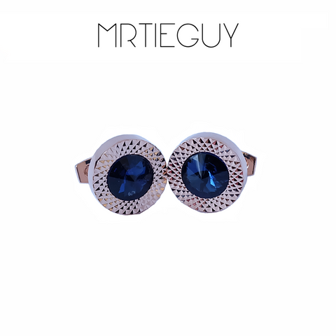 BLUE EMERALD CUFFLINKS - MR TIE GUY - For The Daring & Dapper™