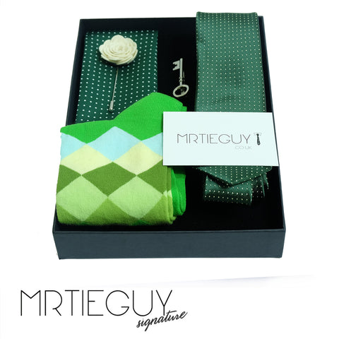 GREEN IS THE KEY GIFT SET - MR TIE GUY - For The Daring & Dapper™