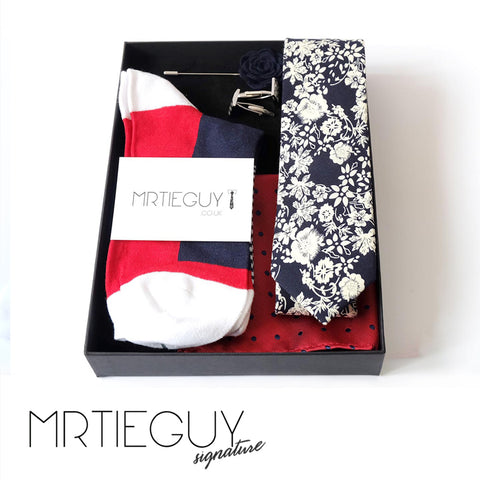 RED WHITE AND BLOOM GIFT SET - MR TIE GUY - For The Daring & Dapper™