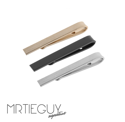 PLAIN TIE CLIP (PACK OF 3)