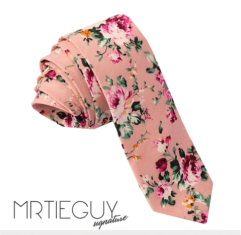 PINK FLORAL - MR TIE GUY - For The Daring & Dapper™