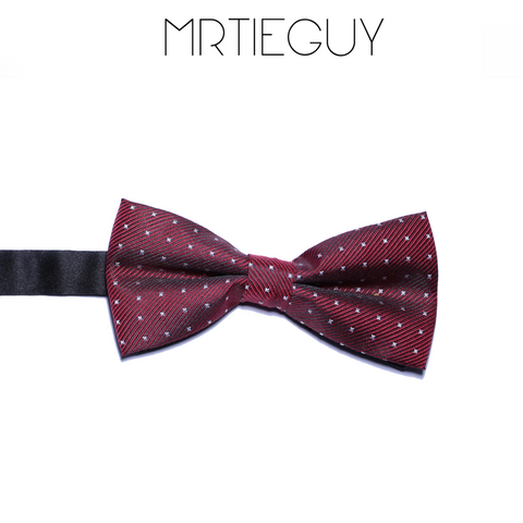 RED WINE POLKA BOW - MR TIE GUY - For The Daring & Dapper™