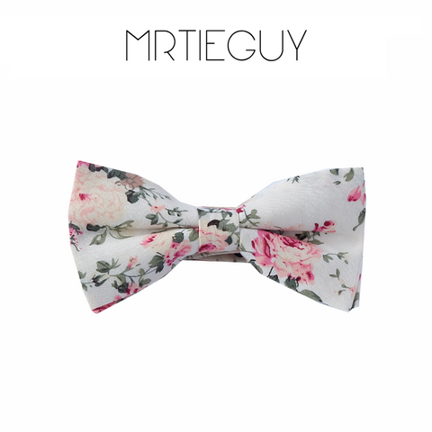 SIGNATURE CREAM FLORAL BOW - MR TIE GUY - For The Daring & Dapper™