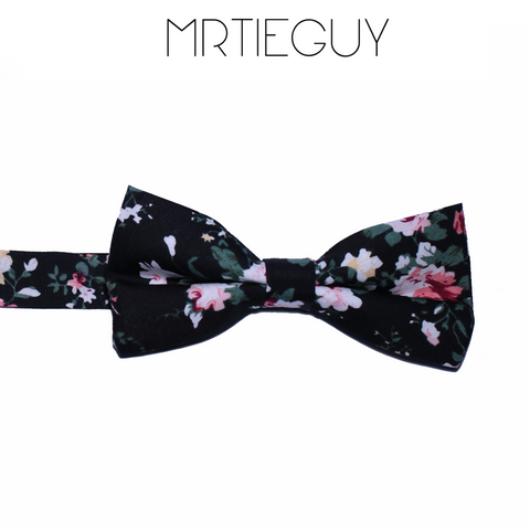 SIGNATURE BLACK FLORAL BOW - MR TIE GUY - For The Daring & Dapper™