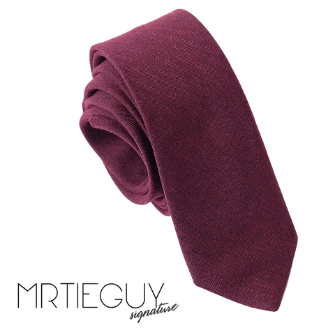 WINE RED TIE - MR TIE GUY - For The Daring & Dapper™