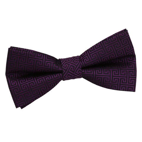 GREEK KEY PRE-TIED BOW - MR TIE GUY - For The Daring & Dapper™