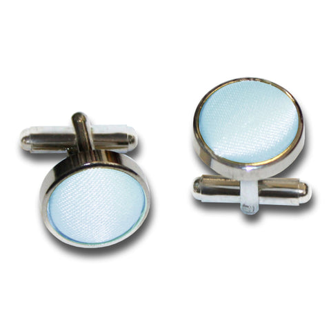 PLAIN SATIN SILVER PLATED CUFFLINKS - MR TIE GUY - For The Daring & Dapper™