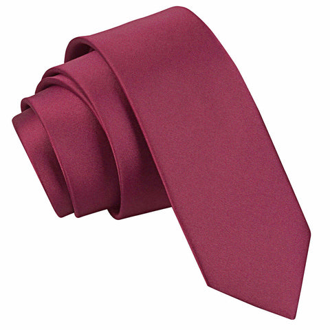 PLAIN SATIN SKINNY TIE - MR TIE GUY - For The Daring & Dapper™
