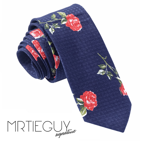 RED ROSE TIE - MR TIE GUY - For The Daring & Dapper™