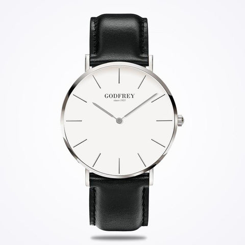 GODFREY - SILVER W/ BLACK LEATHER