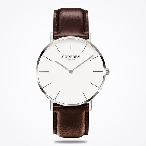 GODFREY - SILVER W/ BROWN LEATHER