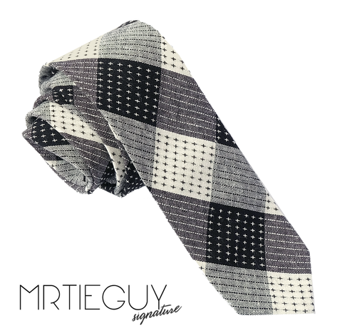 BLACK AND GREY CROSSHATCH - MR TIE GUY - For The Daring & Dapper™