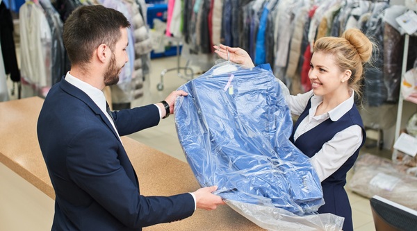 Dry cleaning a suit