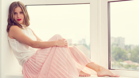 Pleated Skirt by Window