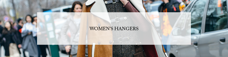 Butler Luxury Women's Wood Suit Hangers, Shirt Hangers, Skirt Hangers, and Custom Woven Padded Hangers