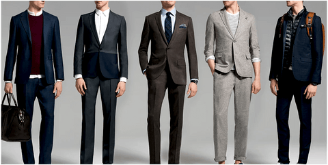 Array of suits