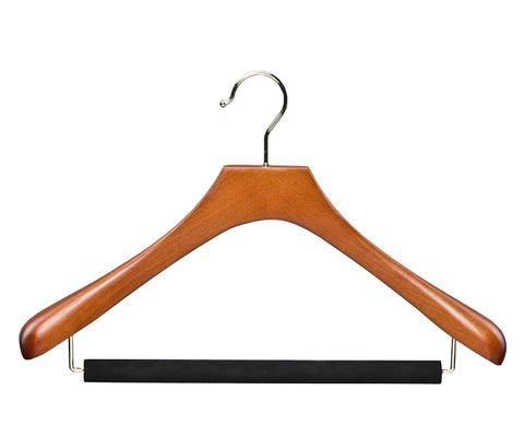 Butler Luxury wooden suit hanger with velvet trouser bar