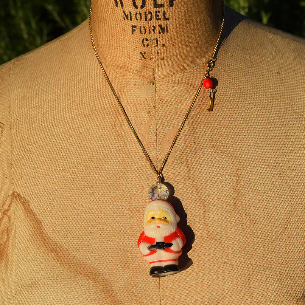 """Simple Santa"" #12 Vintage Necklace"